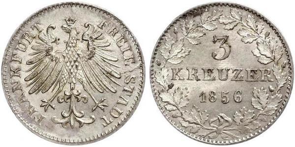 3 Kreuzer Free City of Frankfurt Silver