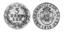 3 Kreuzer Grand Duchy of Baden (1806-1918) Silver