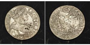3 Kreuzer Holy Roman Empire (962-1806) Silver Leopold I, Holy Roman Emperor (1640-1705)