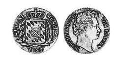 3 Kreuzer Kingdom of Bavaria (1806 - 1918) Silver Ludwig I of Bavaria (1786 – 1868)