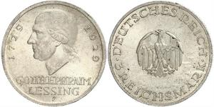 3 Mark 德意志帝國 (1871 - 1918) 銀 戈特霍尔德·埃夫莱姆·莱辛