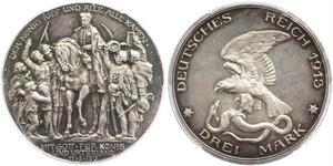 3 Mark 普魯士王國 (1701 - 1918) 銀