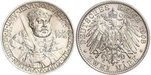3 Mark 萨克森-魏玛-艾森纳赫 (1809 - 1918) 銀