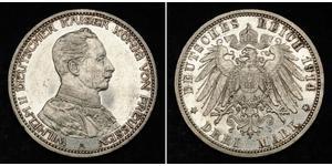 3 Mark Regno di Prussia (1701-1918) Argento Wilhelm II, German Emperor (1859-1941)