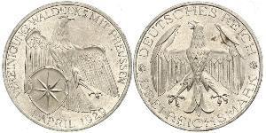3 Mark Repubblica di Weimar (1918-1933) Argento