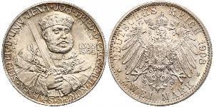 3 Mark Sassonia-Weimar-Eisenach (1809 - 1918) Argento