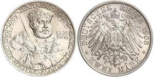 3 Mark Grand Duchy of Saxe-Weimar-Eisenach (1809 - 1918) Silver