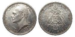 3 Mark Kingdom of Prussia (1701-1918) Silver