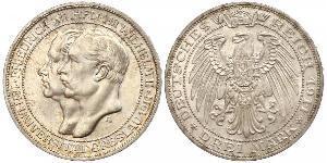 3 Mark Kingdom of Prussia (1701-1918) Silver Frederick William III of Prussia (1770 -1840)
