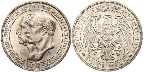 3 Mark Kingdom of Prussia (1701-1918) Silver Frederick William III of Prussia (1770 -1840)