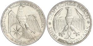 3 Mark Weimar Republic (1918-1933) Silver