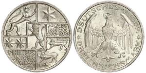 3 Mark / 3 Reichsmark 魏瑪共和國 (1919 - 1933) 銀