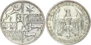 3 Mark / 3 Reichsmark République de Weimar (1918-1933) Argent