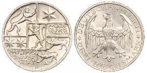 3 Mark / 3 Reichsmark República de Weimar (1918-1933) Plata