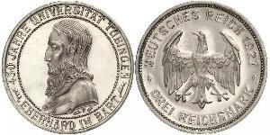 3 Mark / 3 Reichsmark Weimar Republic (1918-1933) Silver