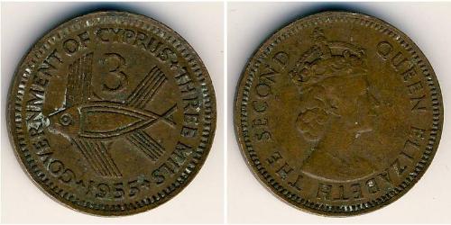 3 Mill British Cyprus (1878 - 1960)