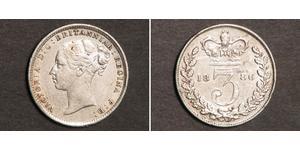 3 Penny 大不列颠及爱尔兰联合王国 (1801 - 1922) 銀 维多利亚 (英国君主)