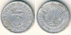 3 Penny Republic of Biafra (1967-1970) Aluminium