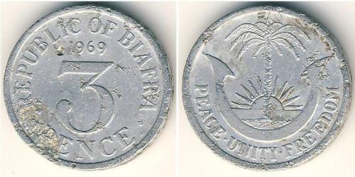 3 Penny Republic of Biafra (1967-1970) Aluminium