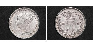 3 Penny Regno Unito di Gran Bretagna e Irlanda (1801-1922) Argento Vittoria (1819 - 1901)