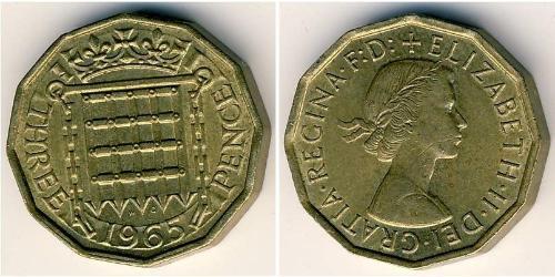 3 Penny United Kingdom Brass