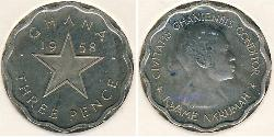 3 Penny Ghana Copper/Nickel