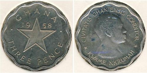 3 Penny Ghana Copper/Nickel