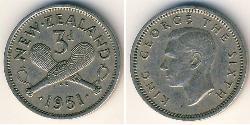 3 Penny New Zealand Copper/Nickel