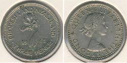 3 Penny Southern Rhodesia (1923-1980) Copper/Nickel Elizabeth II (1926-)