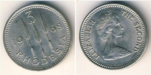 3 Penny Southern Rhodesia (1923-1980) Copper/Nickel
