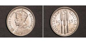 3 Penny Southern Rhodesia (1923-1980) Plata