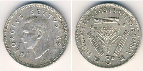 3 Penny Südafrika Silber