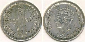 3 Penny Southern Rhodesia (1923-1980) Silber Georg VI (1895-1952)