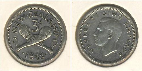 3 Penny New Zealand Silver