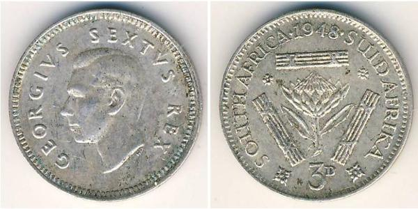 3 Penny South Africa Silver
