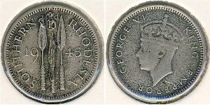 3 Penny Southern Rhodesia (1923-1980) Silver George VI (1895-1952)
