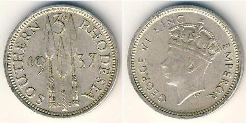 3 Penny Southern Rhodesia (1923-1980) Silver George VI (1895-1952)