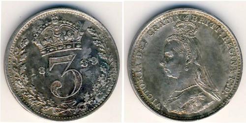 3 Penny United Kingdom Silver