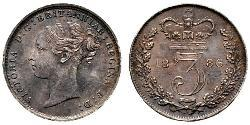 3 Penny United Kingdom of Great Britain and Ireland (1801-1922) Silver Victoria (1819 - 1901)