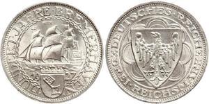 3 Reichsmark République de Weimar (1918-1933) Argent