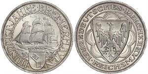 3 Reichsmark Weimarer Republik (1918-1933) Silber