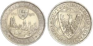 3 Reichsmark Weimar Republic (1918-1933) Silver