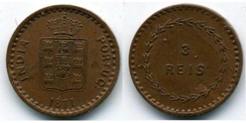 3 Reis Portuguese India (1510-1961) Copper