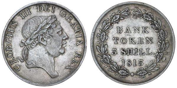 3 Shilling 英国 銀 喬治三世 (1738-1820)