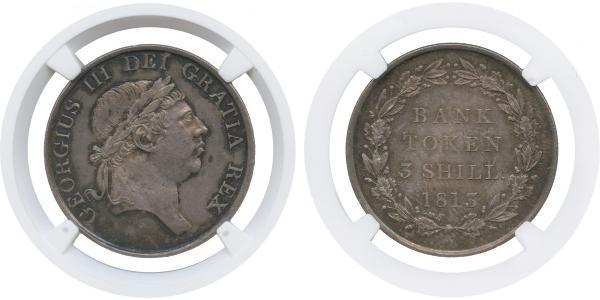 3 Shilling Regno Unito  Argento Giorgio III (1738-1820)
