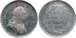 3 Shilling Regno Unito di Gran Bretagna e Irlanda (1801-1922) Argento Giorgio III (1738-1820)