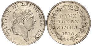 3 Shilling Reino Unido Plata Jorge III (1738-1820)