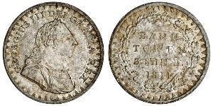 3 Shilling Reino Unido de Gran Bretaña e Irlanda (1801-1922) Plata Jorge III (1738-1820)