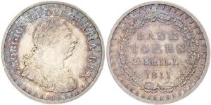 3 Shilling Vereinigtes Königreich von Großbritannien und Irland (1801-1922) Silber Georg III (1738-1820)