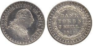 3 Shilling United Kingdom of Great Britain and Ireland (1801-1922) Silver George III (1738-1820)